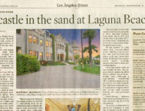 A castle in the sand at Laguna Beach